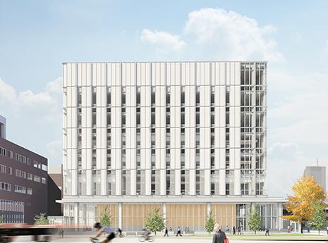 Rendering of the Health Sciences building at Carleton University